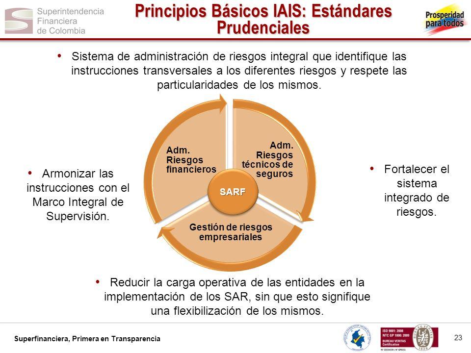 Principios Básicos IAIS: Estándares Prudenciales