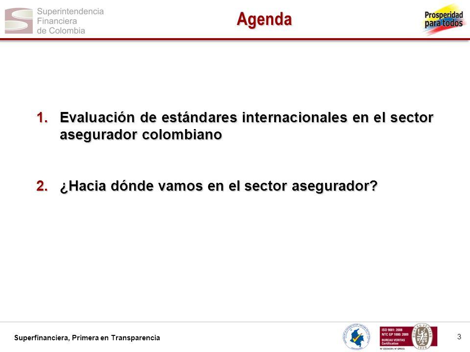 AgendaEvaluación de estándares internacionales en el sector asegurador colombiano.