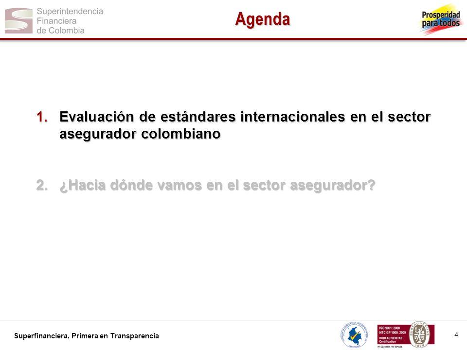 Agenda Evaluación de estándares internacionales en el sector asegurador colombiano.