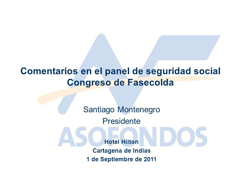 Comentarios en el panel de seguridad social Congreso de Fasecolda