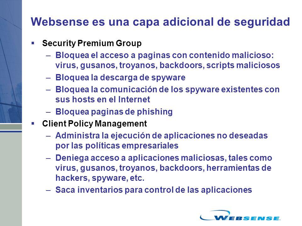 Websense es una capa adicional de seguridad