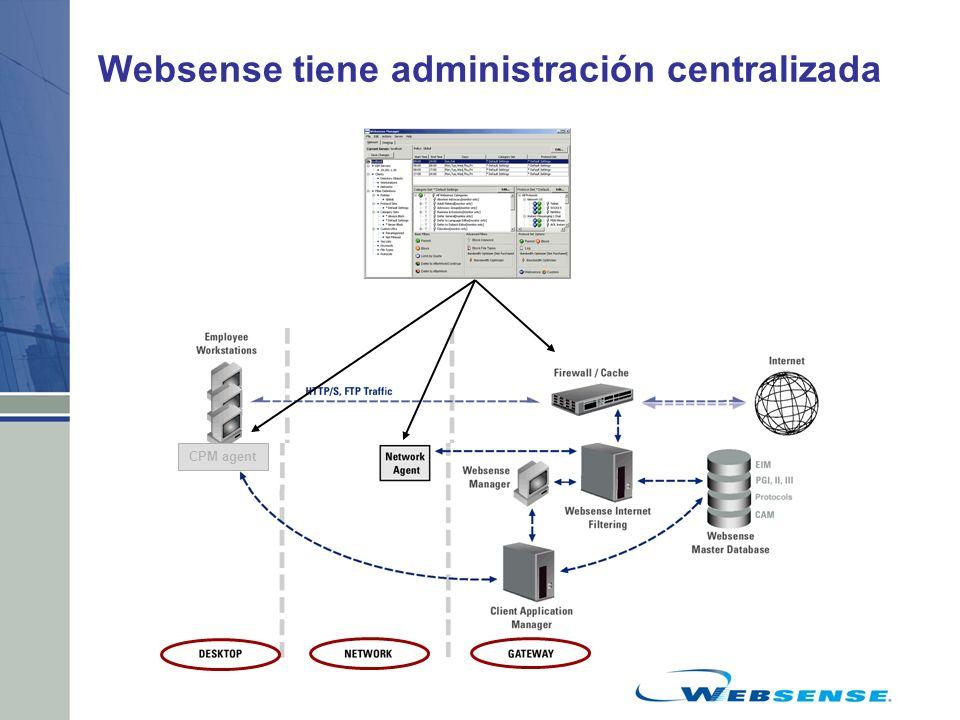 Websense tiene administración centralizada