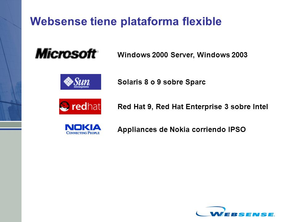Websense tiene plataforma flexible