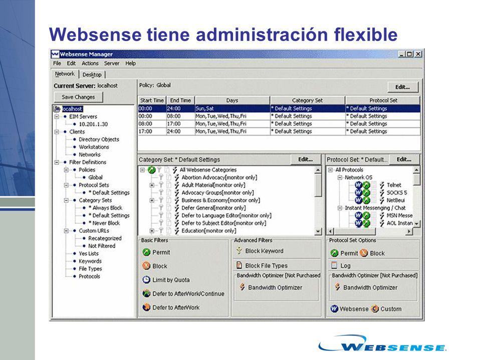 Websense tiene administración flexible