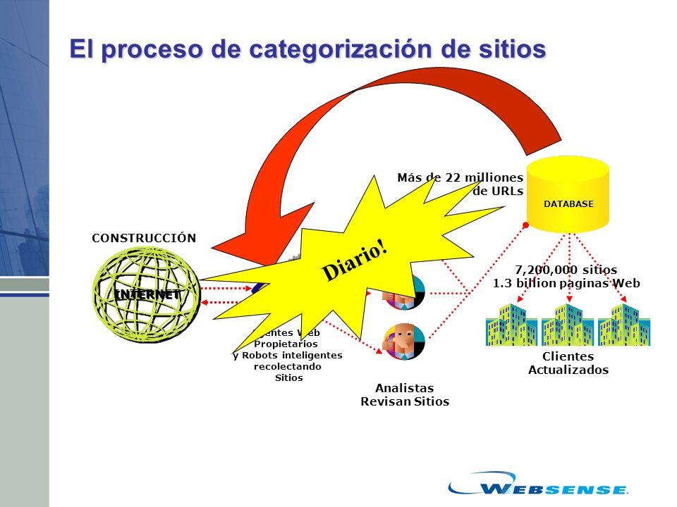 El proceso de categorización de sitios