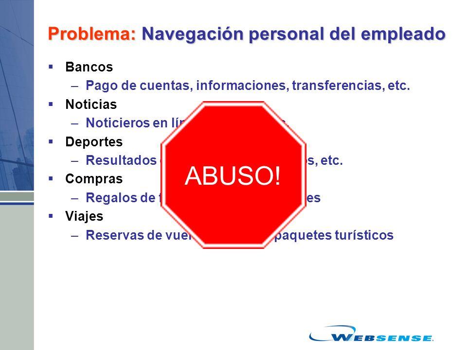 Problema: Navegación personal del empleado