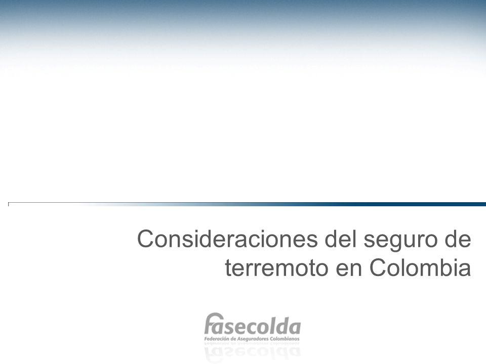 Consideraciones del seguro de terremoto en Colombia