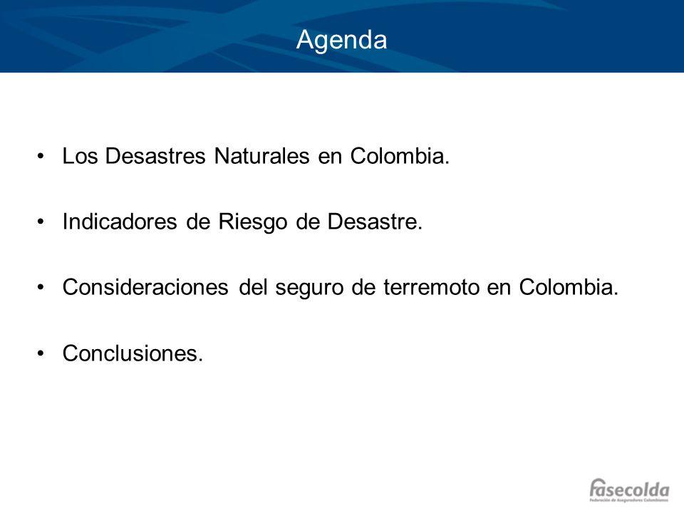 Agenda Los Desastres Naturales en Colombia.