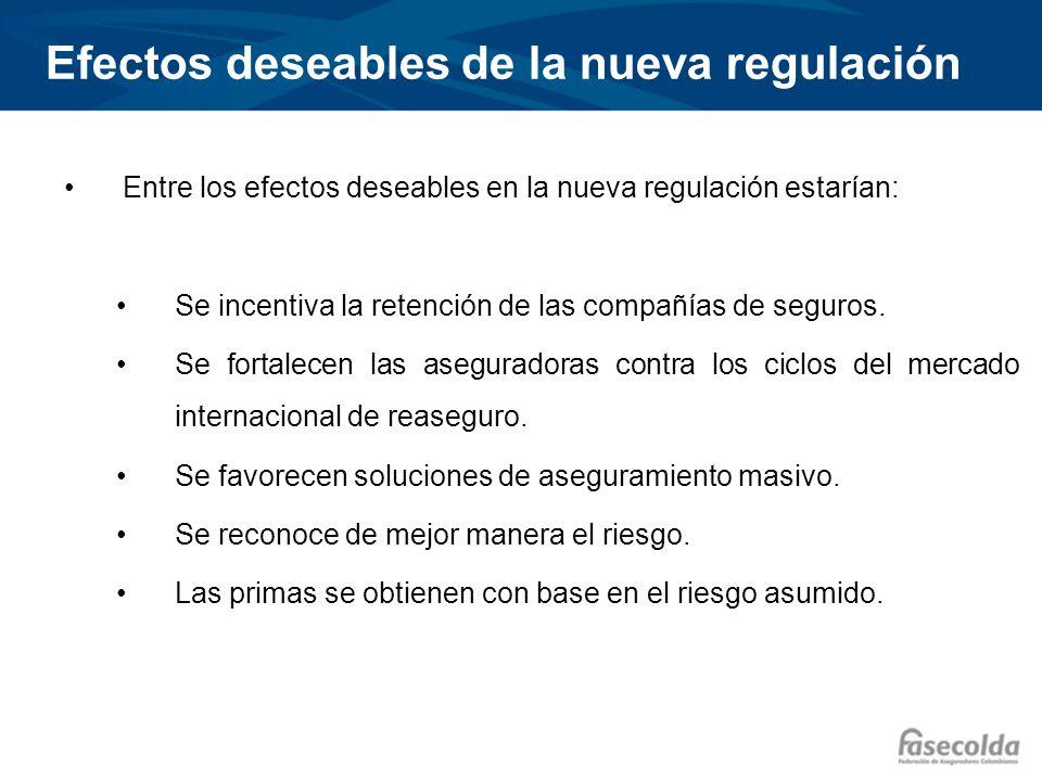 Efectos deseables de la nueva regulación