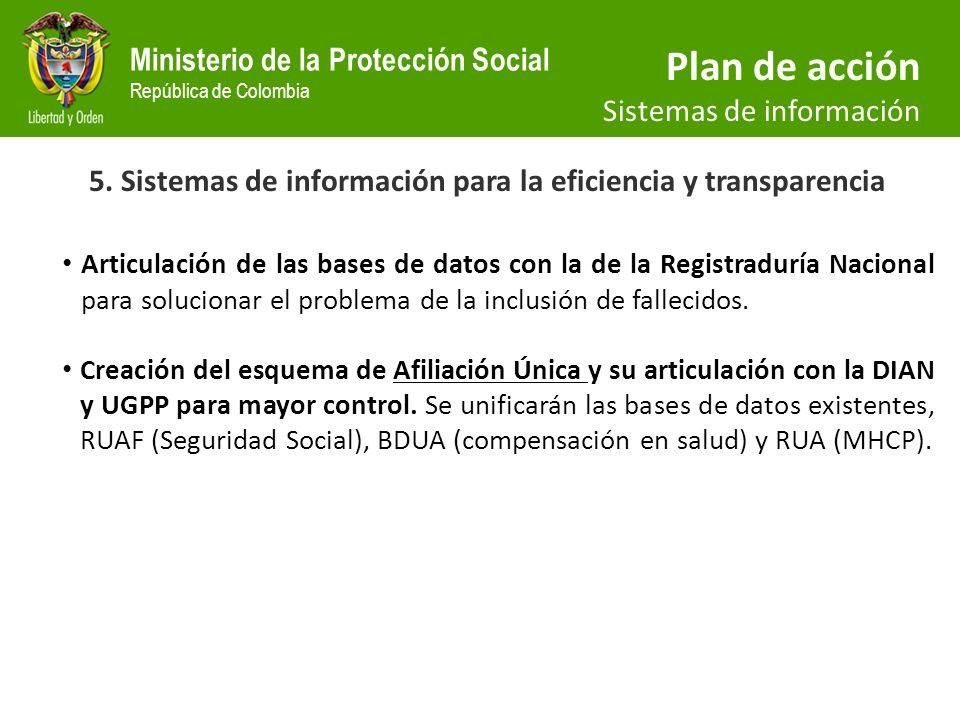 5. Sistemas de información para la eficiencia y transparencia