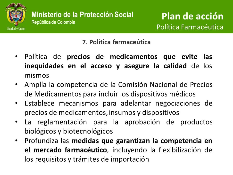 7. Política farmaceútica