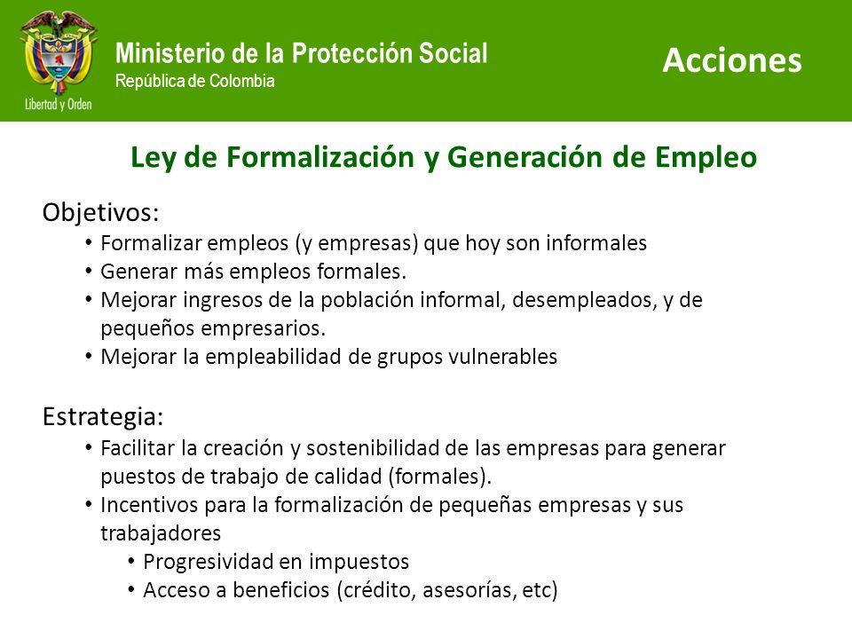 Ley de Formalización y Generación de Empleo
