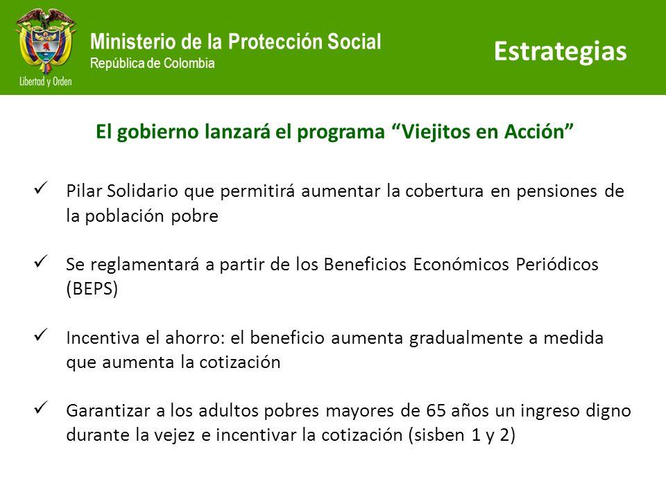 El gobierno lanzará el programa Viejitos en Acción
