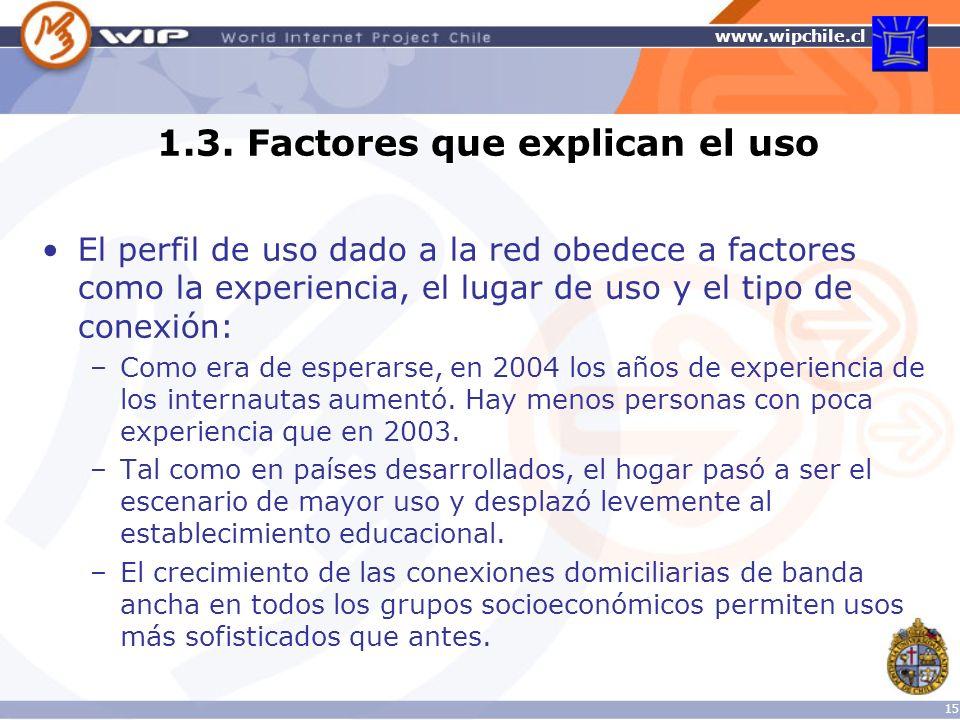 1.3. Factores que explican el uso