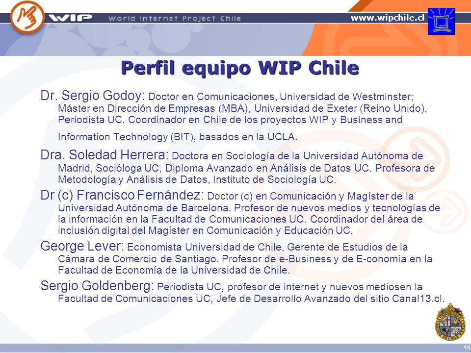 Perfil equipo WIP Chile
