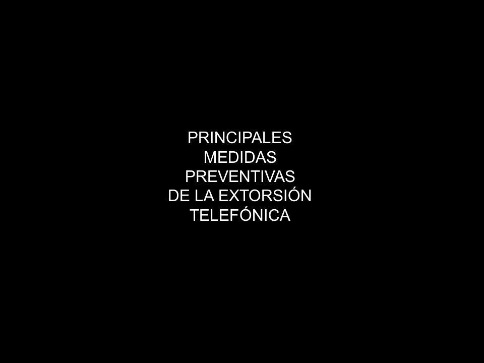 PRINCIPALES MEDIDAS PREVENTIVAS