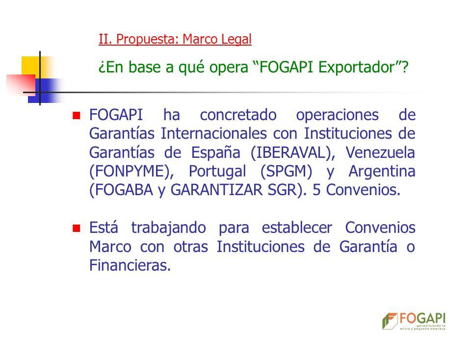 ¿En base a qué opera FOGAPI Exportador