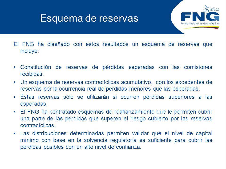 Esquema de reservas El FNG ha diseñado con estos resultados un esquema de reservas que incluye: