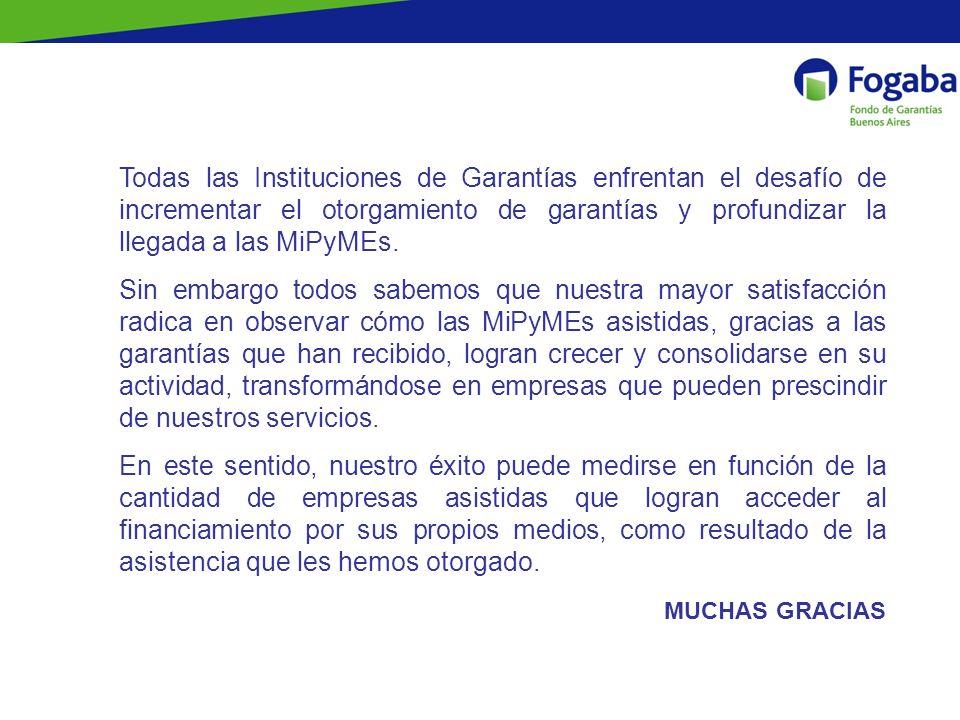 Todas las Instituciones de Garantías enfrentan el desafío de incrementar el otorgamiento de garantías y profundizar la llegada a las MiPyMEs.