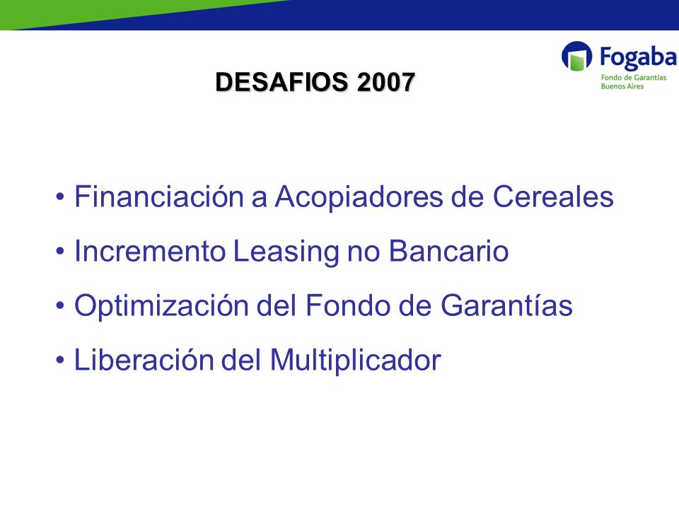 Financiación a Acopiadores de Cereales Incremento Leasing no Bancario