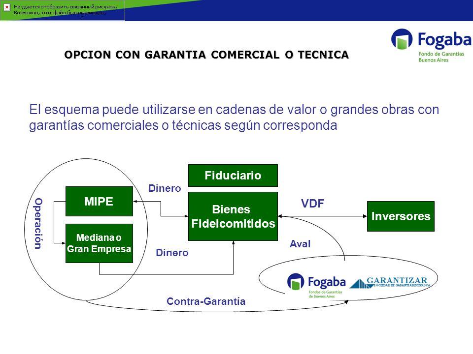 OPCION CON GARANTIA COMERCIAL O TECNICA