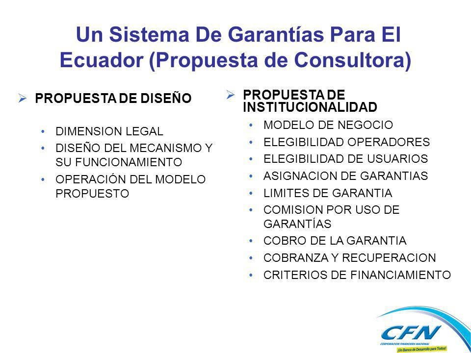 Un Sistema De Garantías Para El Ecuador (Propuesta de Consultora)
