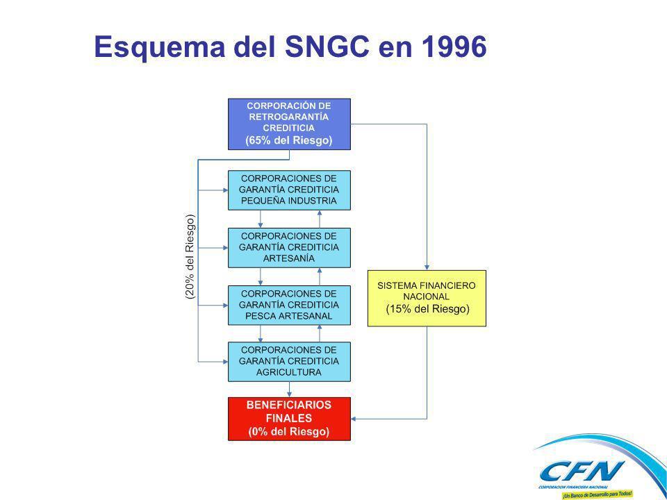 Esquema del SNGC en 1996 vjk APORTANTES AL 2006 USD