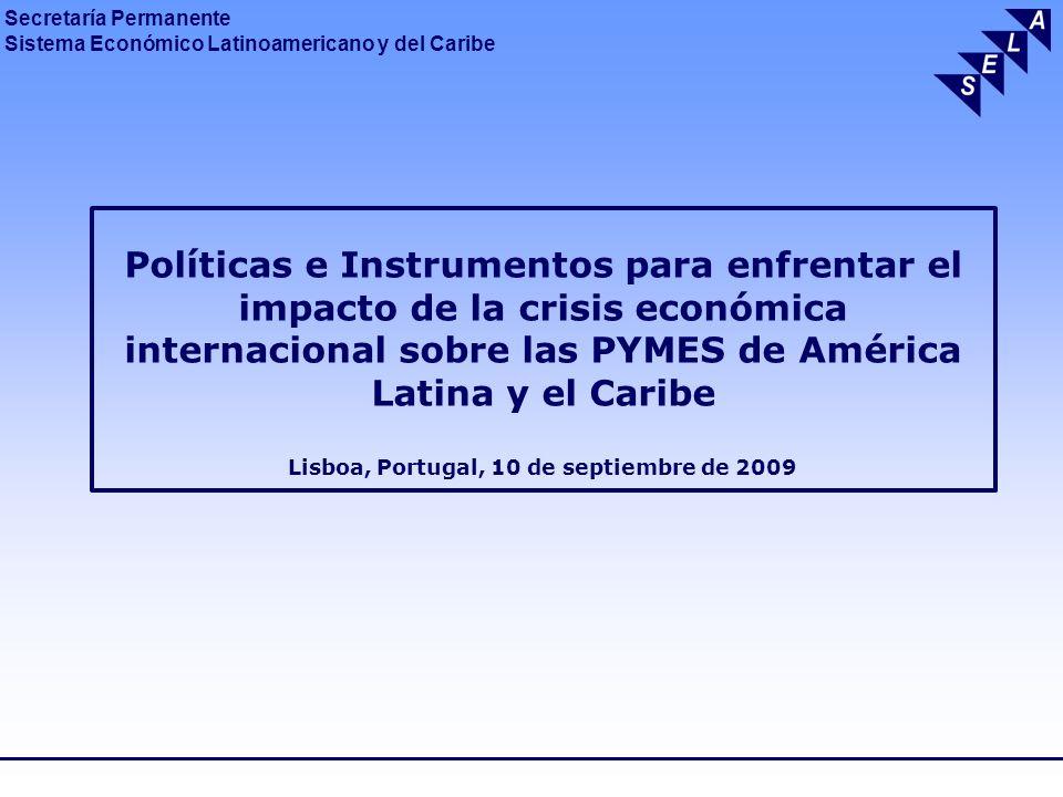 Políticas e Instrumentos para enfrentar el impacto de la crisis económica internacional sobre las PYMES de América Latina y el Caribe Lisboa, Portugal, 10 de septiembre de 2009