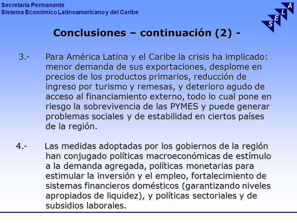 Conclusiones – continuación (2) -
