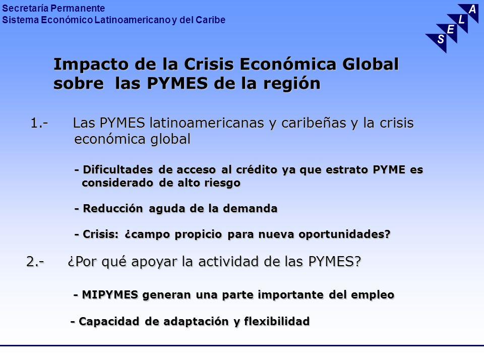 Impacto de la Crisis Económica Global sobre las PYMES de la región