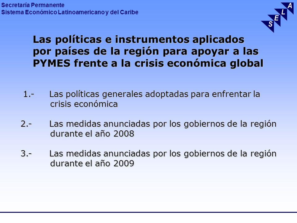 Las políticas e instrumentos aplicados