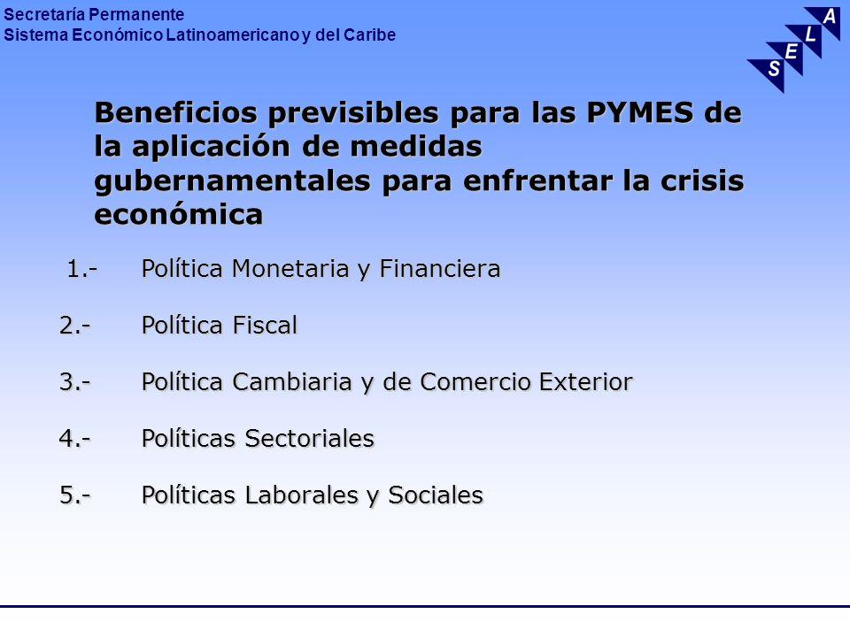 Beneficios previsibles para las PYMES de. la aplicación de medidas
