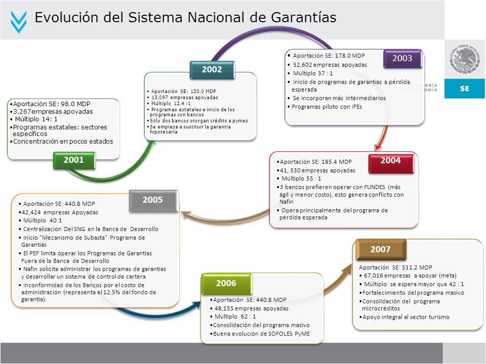 Evolución del Sistema Nacional de Garantías