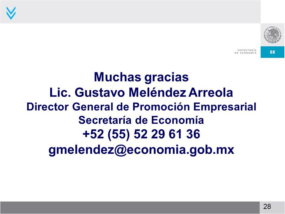 Lic. Gustavo Meléndez Arreola