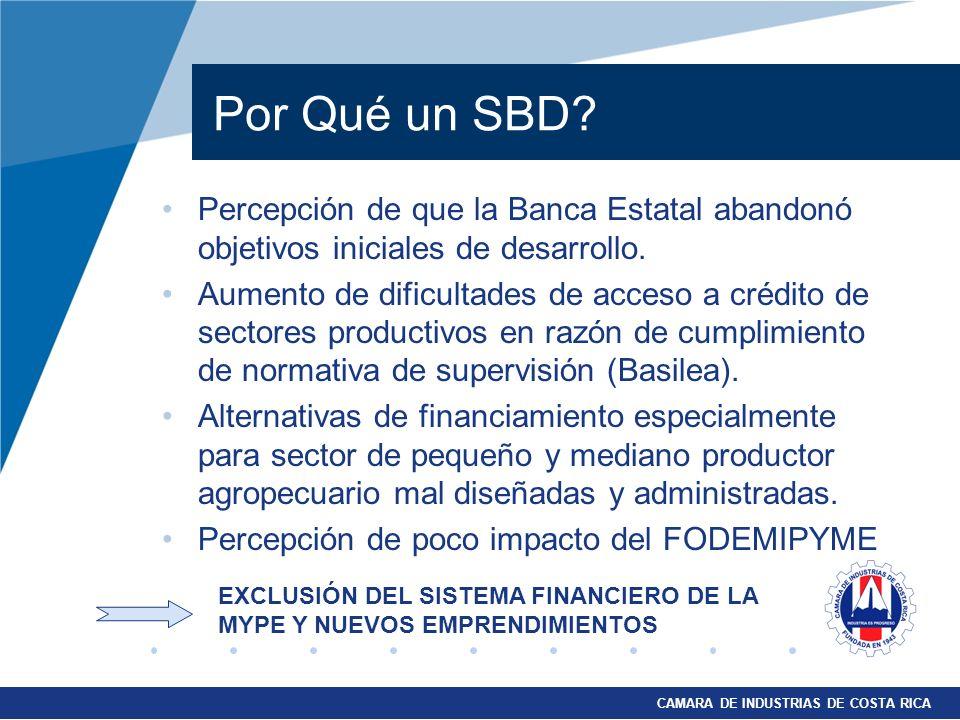 Por Qué un SBD Percepción de que la Banca Estatal abandonó objetivos iniciales de desarrollo.