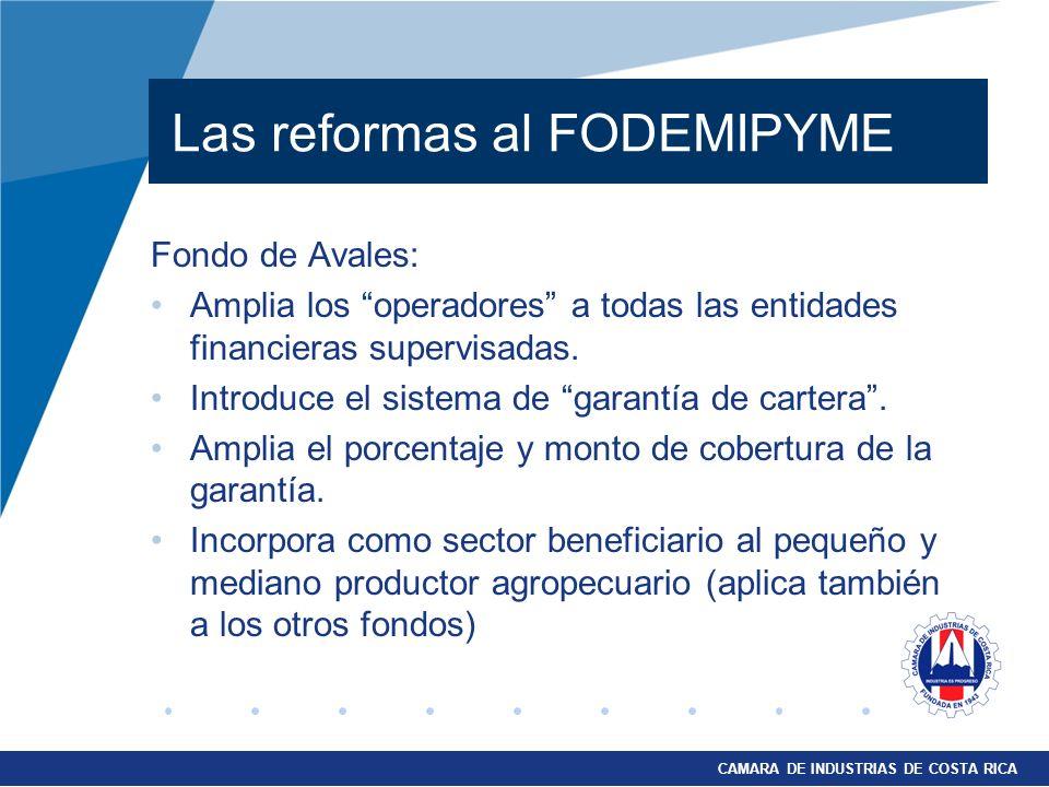 Las reformas al FODEMIPYME