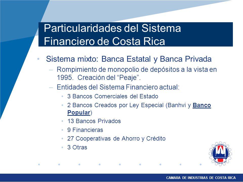 Particularidades del Sistema Financiero de Costa Rica