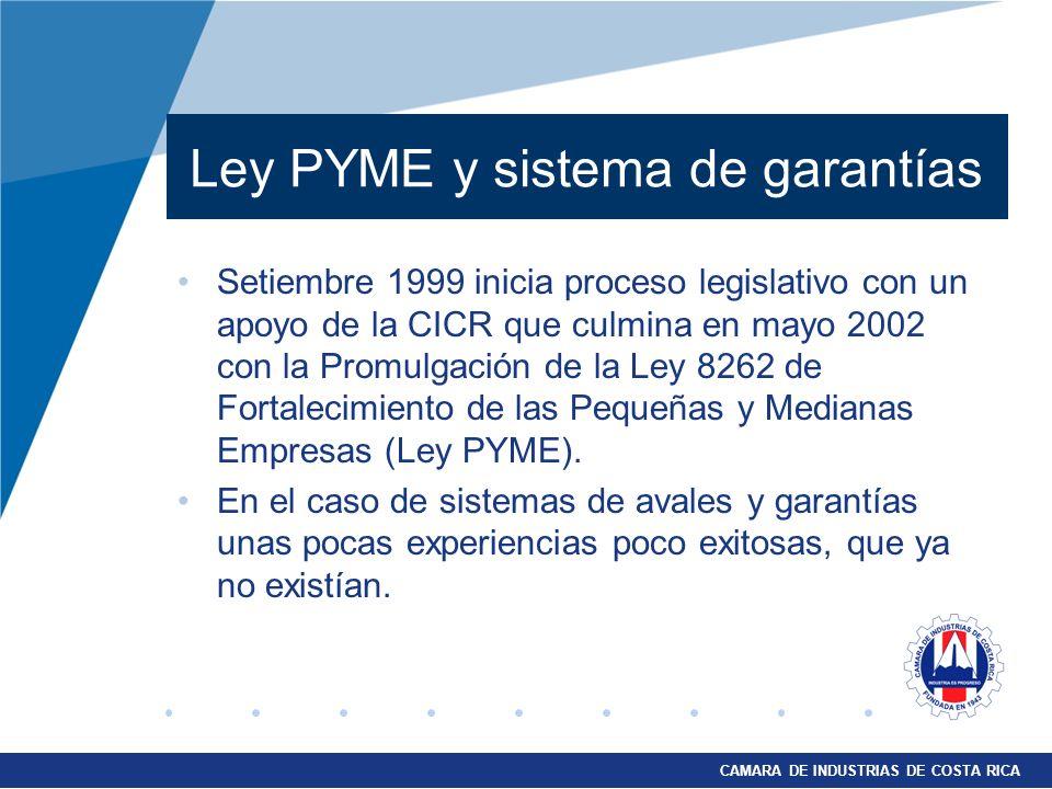 Ley PYME y sistema de garantías