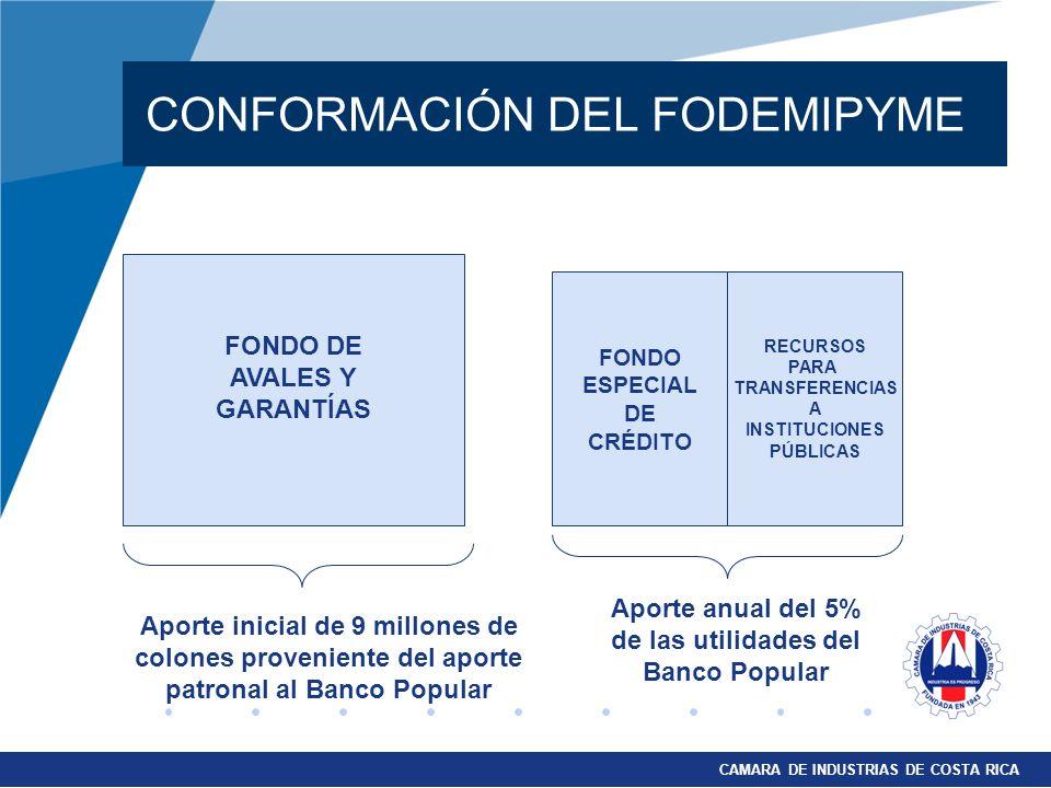 CONFORMACIÓN DEL FODEMIPYME