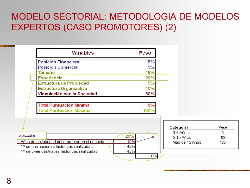 MODELO SECTORIAL: METODOLOGIA DE MODELOS EXPERTOS (CASO PROMOTORES) (2)