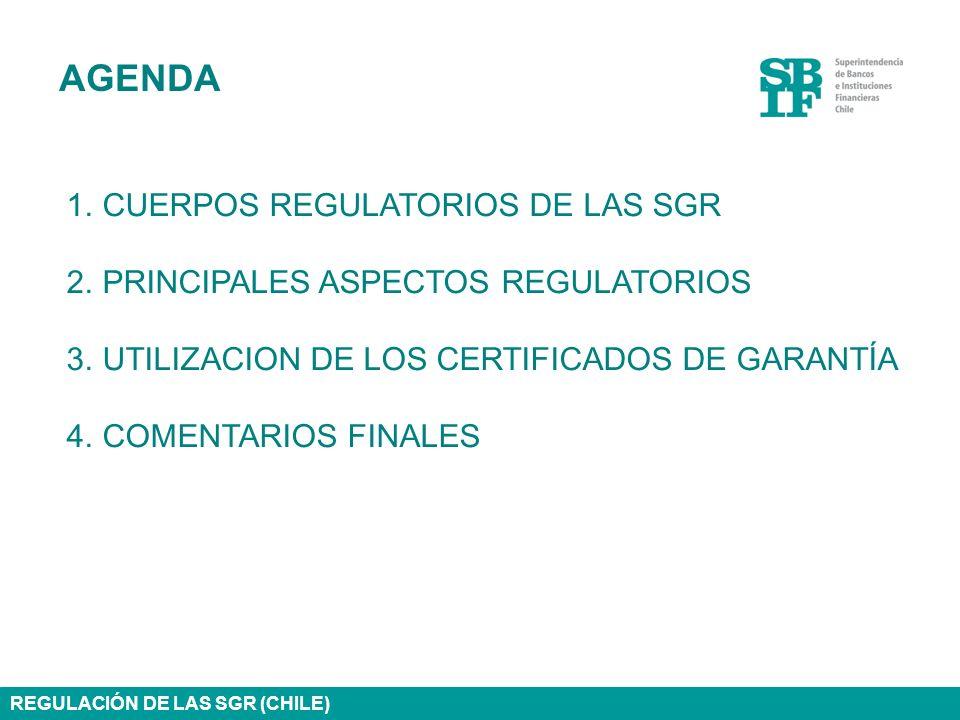 AGENDA CUERPOS REGULATORIOS DE LAS SGR