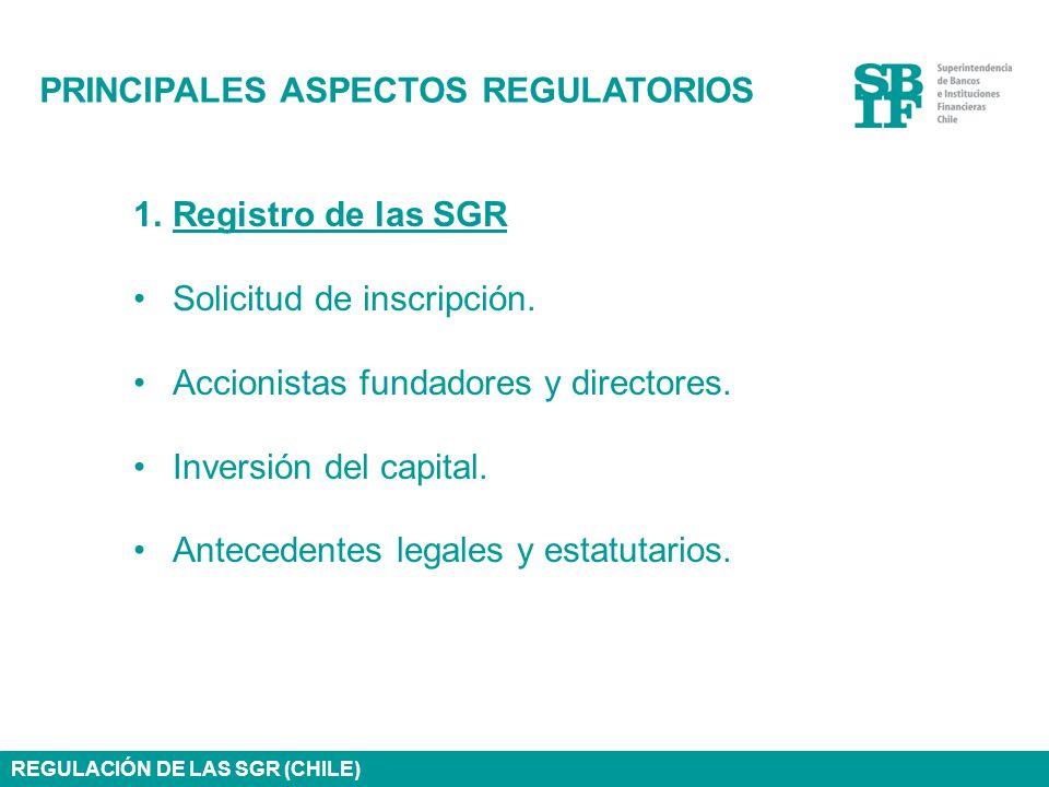 PRINCIPALES ASPECTOS REGULATORIOS