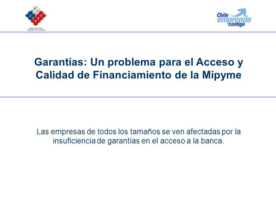 Garantías: Un problema para el Acceso y Calidad de Financiamiento de la Mipyme