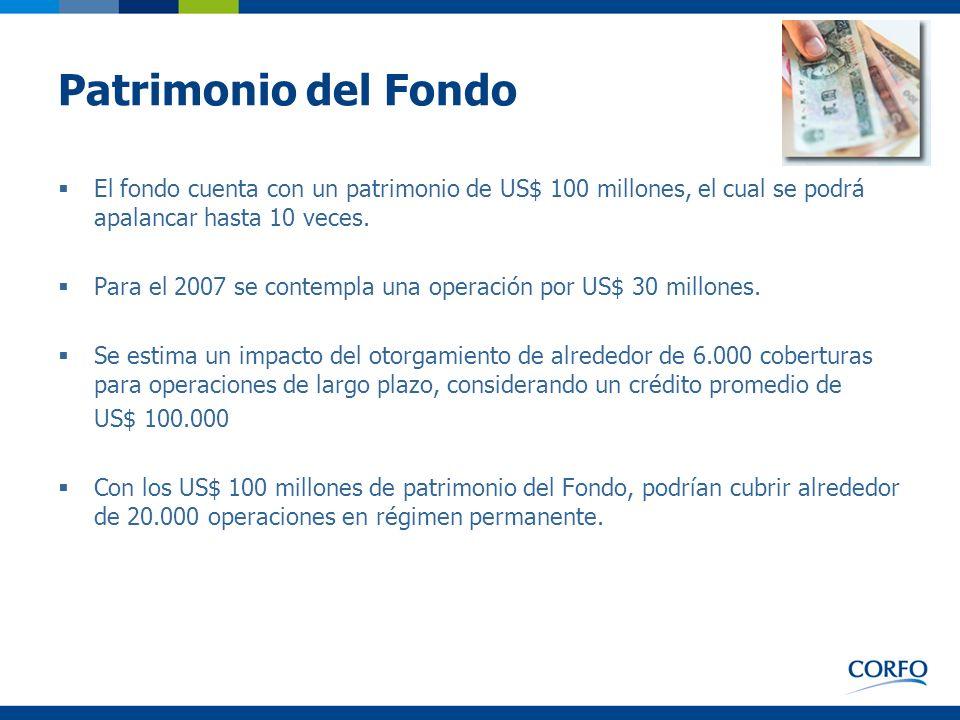 Patrimonio del FondoEl fondo cuenta con un patrimonio de US$ 100 millones, el cual se podrá apalancar hasta 10 veces.