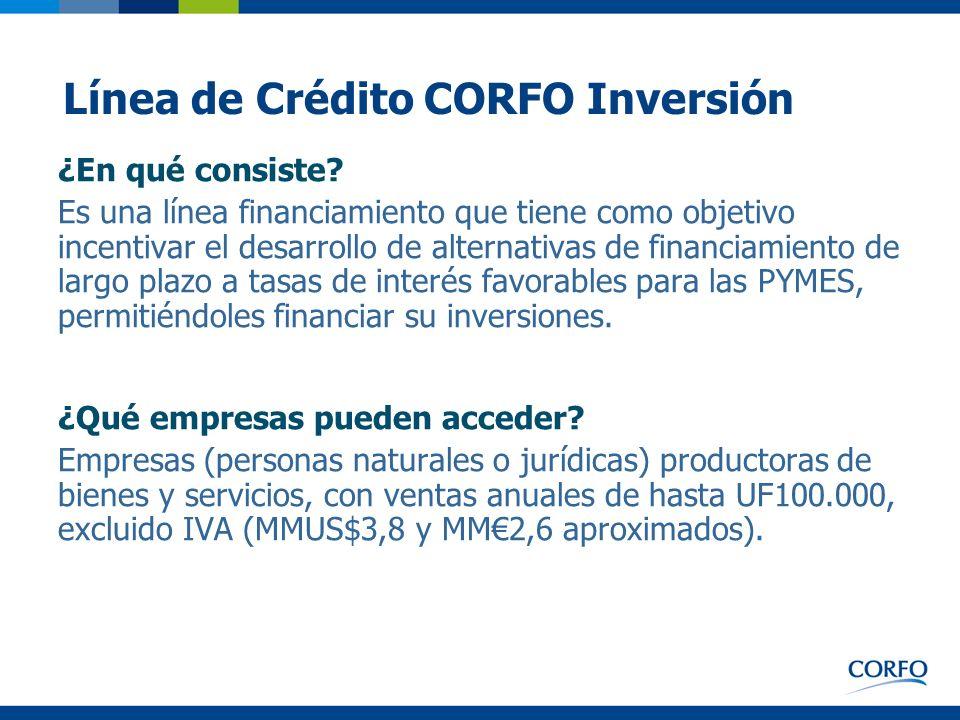 Línea de Crédito CORFO Inversión