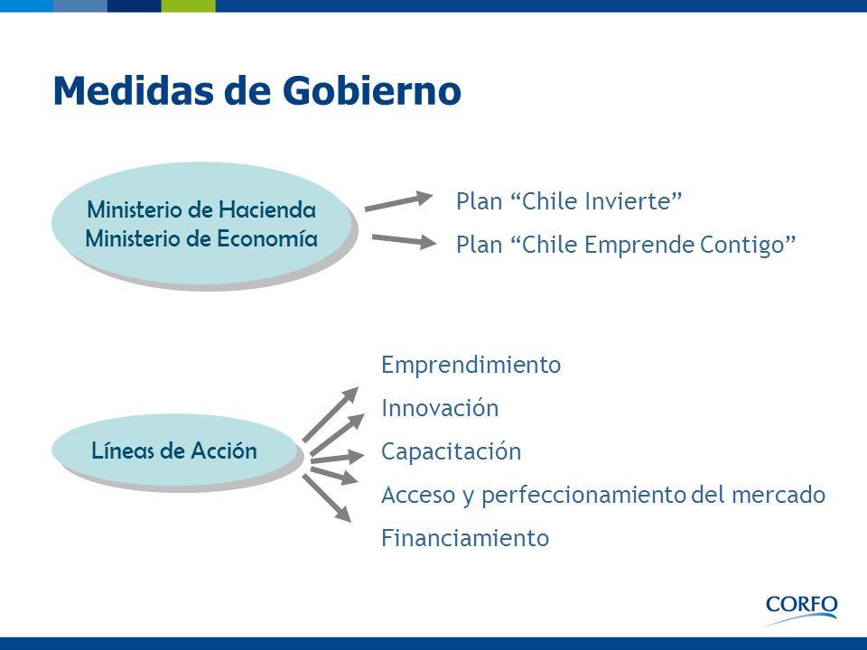Medidas de Gobierno Ministerio de Hacienda Plan Chile Invierte