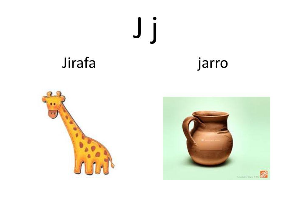 J j Jirafa jarro