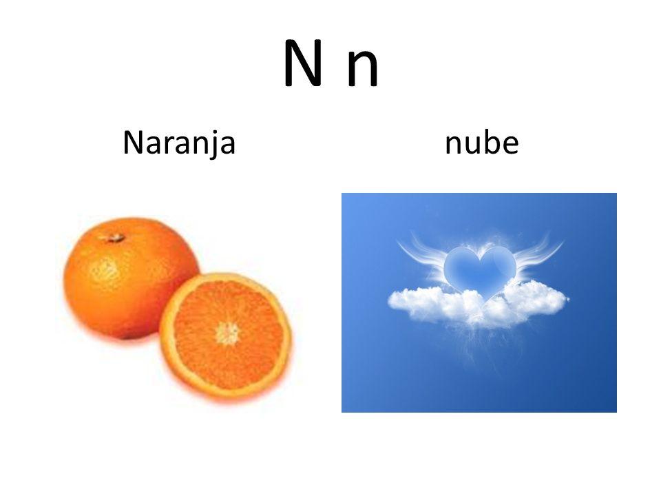 N n Naranja nube