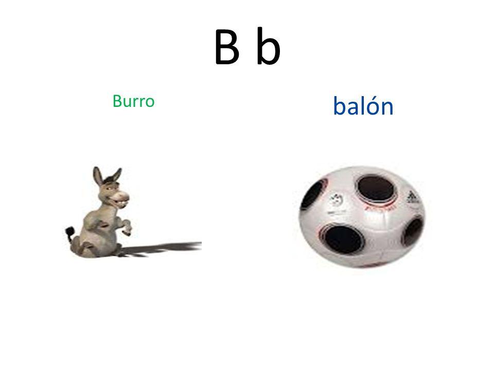 B b Burro balón