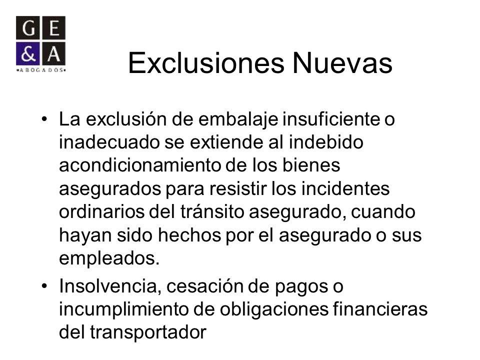 Exclusiones Nuevas